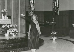 Sister Vickie Hadaway dancing at the Grand Right and Left in Cedar Rapids